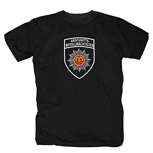 shirtmachine Abschnittsbevollmächtigter T-Shirt, 3X-Large, Schwarz