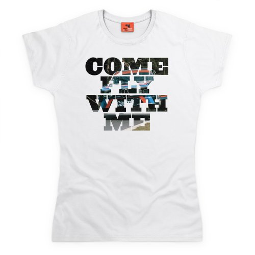 Bimmer Come Fly With Me T-Shirt, Damen Wei