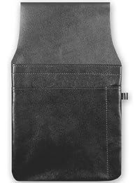 Gastro Kellnertaschenhalfter mit Kettenschlaufe, 103590 002, Damen und Herren Kellnerbörsenhalfter, Leder, schwarz