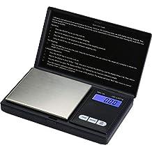 LEVEL25 Báscula digital de precisión, peso máximo 100g, sensibilidad 0.01g, con pantalla