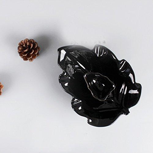In stile europeo, posacenere in ceramica creativa personalità salone modo semplice grande vento ornamenti antichi cinesi off rilevatori di fumo ( colore : Nero ) - Vento Rilevatore