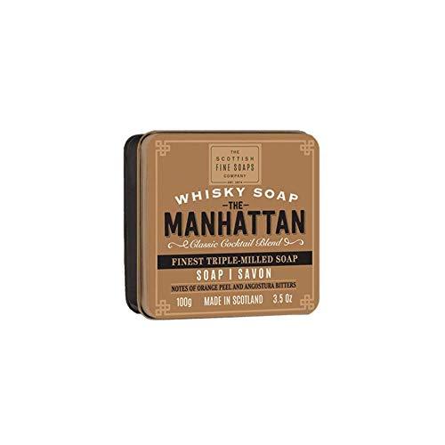 Scottish Fine Soaps Whisky Manhattan Seife in a Tin 100g - Gefräst Seife