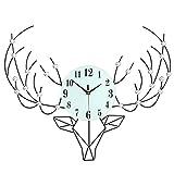 CYL Wanduhr, Hirschkopf Kreative Wohnzimmer Wanduhr, Metall Einfache Uhr, Wanduhr, Kunstprodukte, Wanduhr, Wohnzimmer, Schlafzimmer, Wohnwand Kunst Dekoration