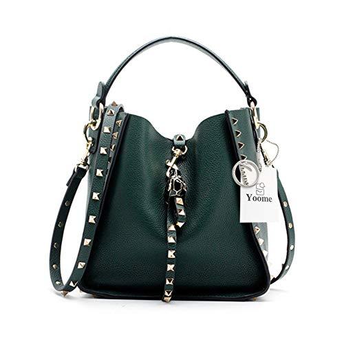 Yoome YooS075-Green, Damen Umhängetasche grün grün Small -