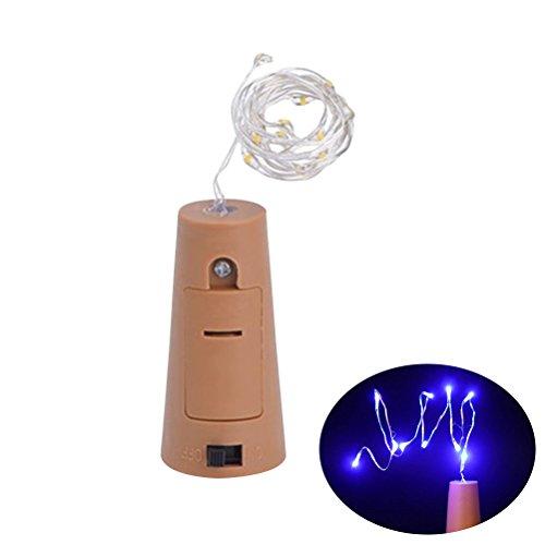 (ledmomo Lichter der Flasche, Lichter der Folge des Kork spritzwasserdicht Kupfer für die Flasche Wein Lichter der Fairy Lichter LED für die Dekoration der Hochzeit Partei (Licht Blau))