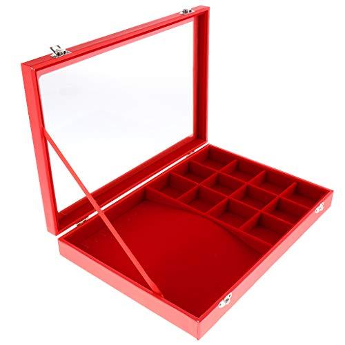 Fenteer Samt-Schmuckablagen Aufbewahrungsbox Ohrringe Schmuck Samt Tablett 35 x 24 x 4.5cm - 9