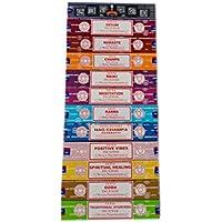 Satya Räucherstäbchen-Set, 12 x 15 g, bestehend aus: Nag, Super Hit, Jod, Positive Vibes, Namaste, Champa, Opium... preisvergleich bei billige-tabletten.eu