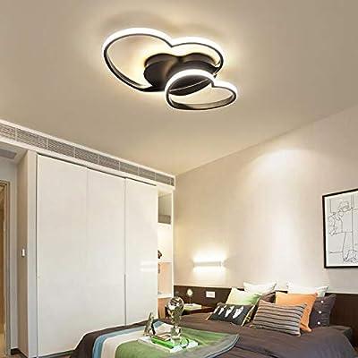 Lampada Da Soffitto A LED Dimmerabile, Design Moderno A Forma Di Cuore, Lampada Da Soffitto A Schermo in Acrilico, Lampadario in Metallo Per Sala Da Pranzo, Plafoniere Da Cucina (Rosa)
