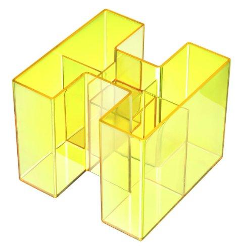 han-bravo-17456-75-lapicero-5-compartimentos-color-amarillo-transparente