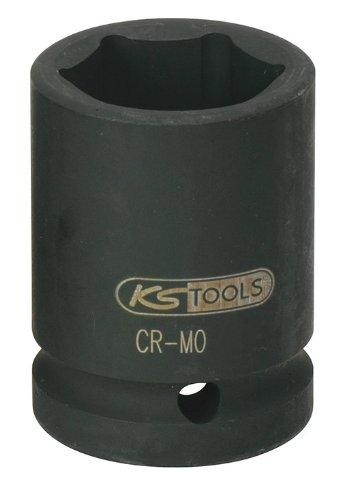 """KS Tools 515.1736 1"""" Sechskant-Kraft-Stecknuss, kurz, 36mm"""