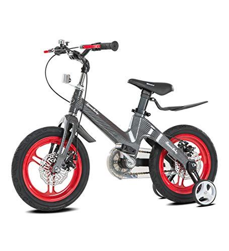 SXMXO Kinderfahrrad für Mädchen und Jungen, 12-Zoll-Räder, Kinderfahrrad mit Lenkrad, Rücktrittbremse, montiertes Geschenk für Jungen und Mädchen,Red