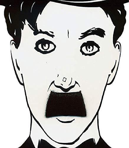 Herren Schwarz Charlie Chaplin Falsch Künstlich Selbstklebend Schnurrbart Kostüm Verkleidung - Falschen Schnurrbart Kostüm