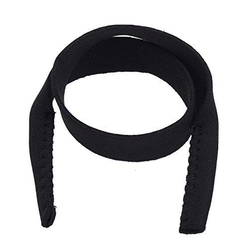Pinzhi2Pcs Einstellbare Sport Sonnenbrillen Brillen Band Armband Kordel Kette (Schwarz)