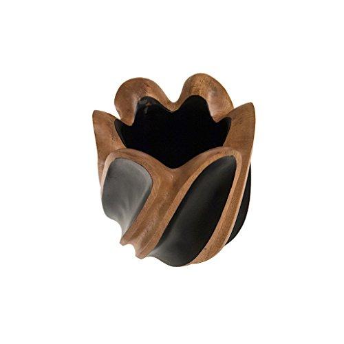 ROMBOL Vase, Holzvase, Höhe 21 cm, Designvase, Deko, Dekoration, Dekovase, Mangoholz, ÌÏbertopf, Holz