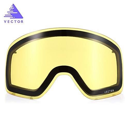 Youwendu Doppellagiges Anti-Fog Original Ersatzglas für Skibrillen