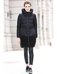 YRF Manteau droit en hiver. Manches longues tiennent le col du manteau. Longs et épais doudoune