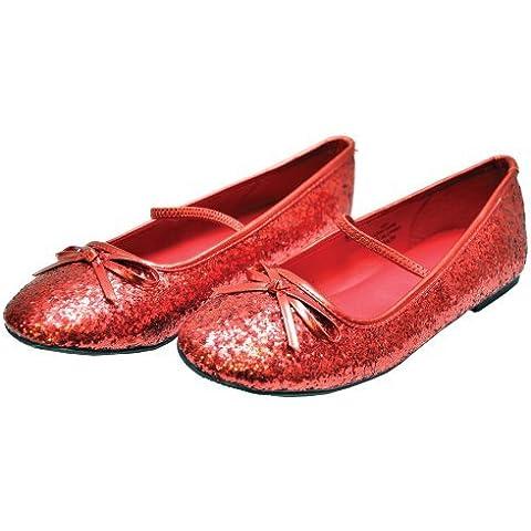 Flat Ballet Glitter CH Red LG by Halloween