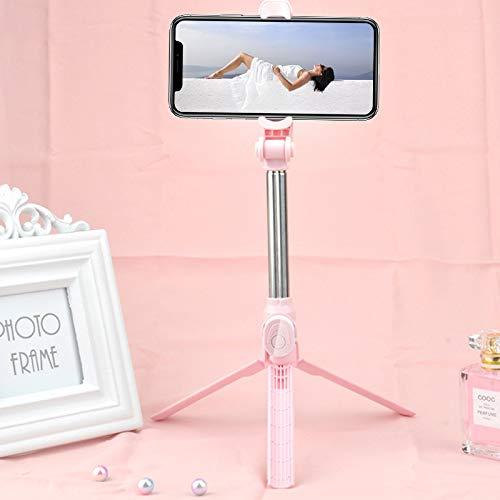 FGRYB Palo Selfie, 1 Pieza 3 a 1 Portátil Extensible Palillo del Selfie del trípode con Control Remoto Inalámbrico Desmontable Palos Selfie para iPhone Samsung Huawei Xiaomi