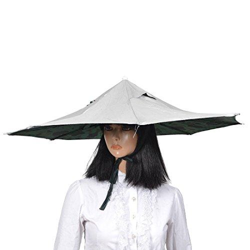 Tarnmuster Inner 8 Rippen Angeln Golf Sonne Regen Regenschirm-Hut-Kappe