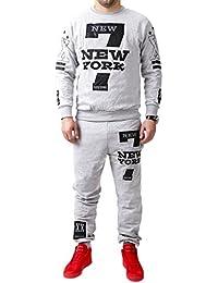 MT Styles ensemble pantalon de sport + sweat-Shirt jogging survêtement NY-7 TR-5900