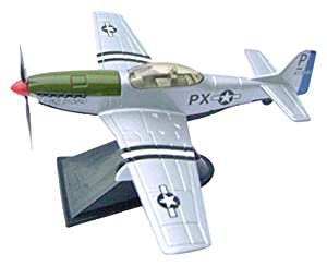Richmond Toys 111251 Mustang Classic Fighter, Plata/Verde