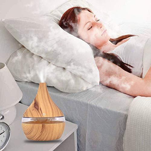 Aroma Diffuser Luftbefeuchter Ultraschall Oil Düfte Humidifier Aromatherapie Ätherischesöl Vernebler LED Lichter Grain Home verstellbarer Nebel Modus Luftreiniger -