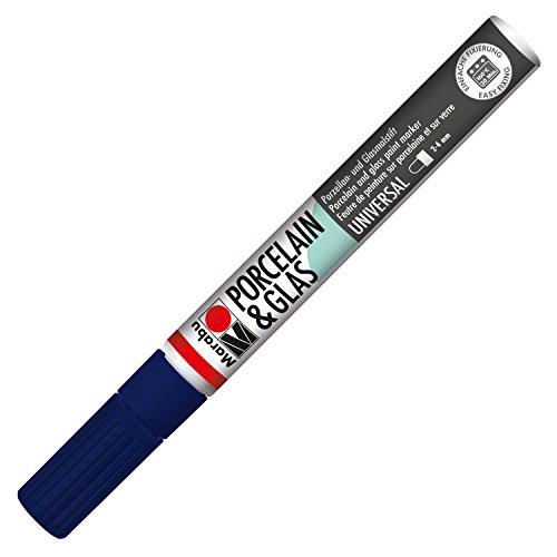 Marabu 12334293 - - Porcelain und Glas Painter, Universalspitze 2-4 mm, nachtblau