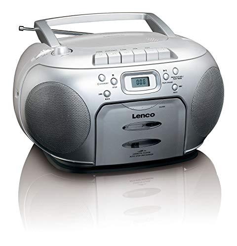 Lenco SCD-420 - Portable Radio - CD- Cassette player - Silber