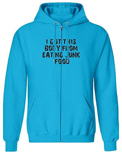 Ich Habe diesen Körper vom Essen Junk Food - I Got This Body from Eating Junk Food Zipper Hoodie Jumper Pullover for Men 100% Soft Cotton Mens Clothing XX-Large Junk-food-print-pullover