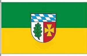 Königsbanner Hochformatflagge Landkreis Aichach-Friedberg - 120 x 300cm - Flagge und Fahne