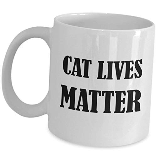 Vet Coffee Mug Gifts - Cat Lives Matter - Veterinarian Cup Doctor of Veterinary Medicine Pet Kitten Lover Animal Physician Surgeon Physiology Inspirational Graduation Funny Cute Saying Gift