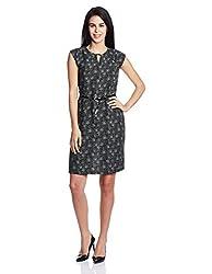 Park Avenue Woman Cut-Out Dress (PWEA00387-K8_Black_86)