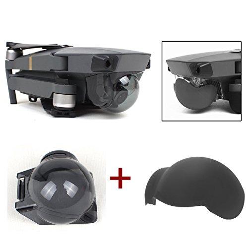Flycoo Gimbal Cap + Silikonabdeckung für DJI Mavic Pro Kamera Linse Protector Light Reduction Objektivfilter (ND8+ Silicone Cover) Lens Cap Cover