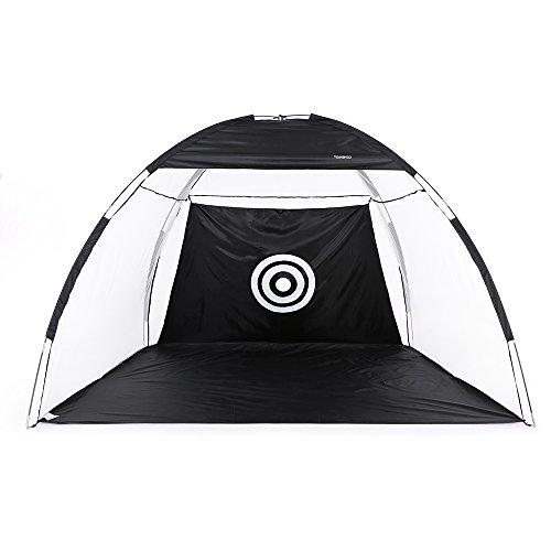 TOMSHOO Golf Übungsnetz Golf Zelt für Zuhause mit Tragetasche