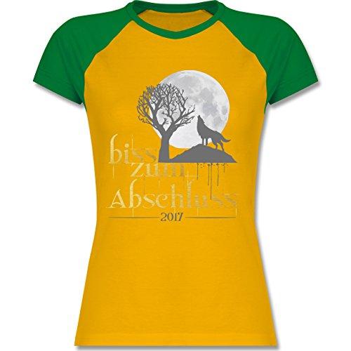 Abi & Abschluss - Biss zum Abschluss 2017 - zweifarbiges Baseballshirt /  Raglan T-Shirt