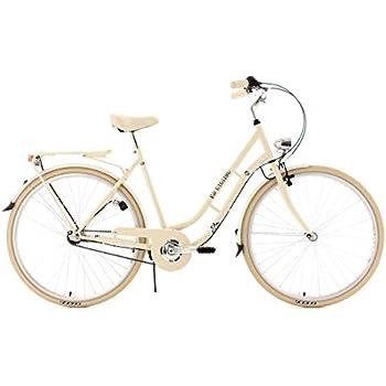 KS Cycling Cityrad Casino 3 Gänge - Bicicleta de paseo, color beige, ruedas 28