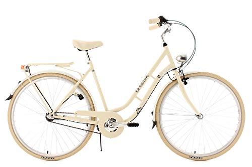KS Cycling Damen Fahrrad Cityrad Casino 3 Gänge, Beige… | 04250547520745
