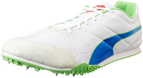 Puma  TFX Star v3, Chaussures de course pour homme Blanc - Weiß (01 white-strong blue-fluro green CO)