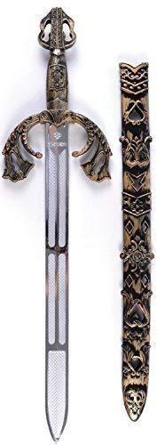 Herren Jungen Mittelalterlich Schwert & Mantel Halloween Kostüm Zubehör Waffe Satz