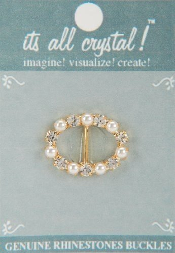 vision-trims-genuine-rhinestone-buckle-35mm-oval-gold-pearl-by-notions-marketing-drop-ship