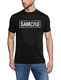 Coole-Fun-T-Shirts Herren T-Shirt FT Patch Sons Of Anarchy Redwood Original Samcro