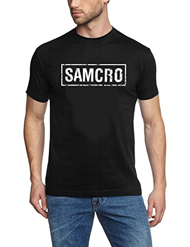 Coole-Fun-T-Shirts - T-Shirt Ft Patch Sons Of Anarchy Redwood Original Samcro, T-shirt da uomo, nero(schwarz), L