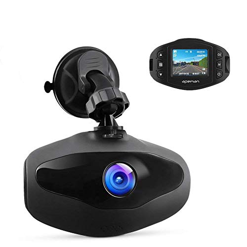 APEMAN C470 1080p Mini In Car Dash Cam Camera - Black