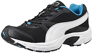 Puma Men's BrillianceDP Black, Puma Silver and Atomic Blue Running Shoes - 9 UK/India (43 EU)