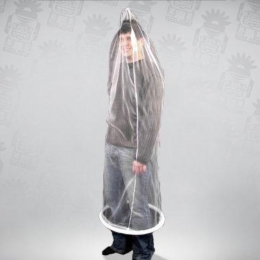 Ganzkörper-Kondom, weiß Einheitsgröße