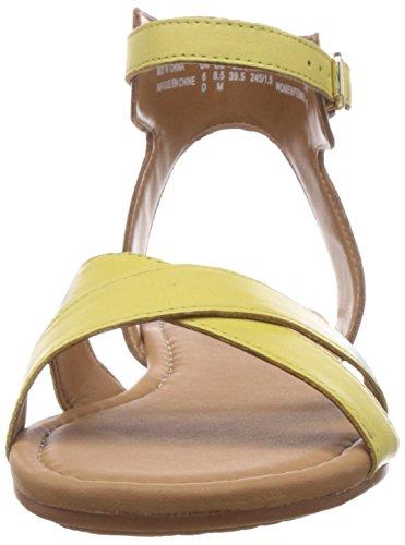 Clarks Viveca Zeal, Damen Sandalen Mehrfarbig (Yellow Leather)