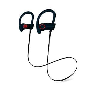 Cuffie Bluetooth, Auricolari Wireless POOPHUNS Auricolari Sportivi Wireless Stereo 4.1(V9 Auricolare In-Ear, aptX, 6-8 ore di Riproduzione, Microfono Incorporato, A2DP, Hands-stereo), sport impermeabili Auricolare Bluetooth V4.1-cuffia senza fili per iPhone, iPad, Samsung, Huawei, Xiaomi, Tablet, MP3 e altri smartphone- Nero