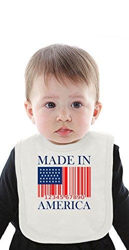 Made In America Slogan Organic Bib With Ties Medium