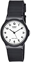 Casio Men's White Dial Resin Analog Watch - MQ-24-7BLDF
