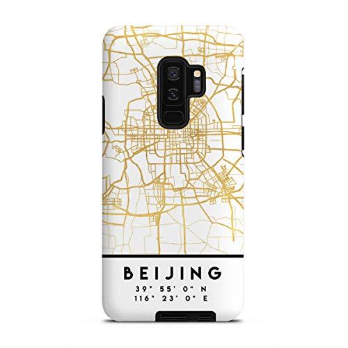 artboxONE Tough-Case Handyhülle für Samsung Galaxy S9 Plus Beijing China Street MAP Art von Emiliano Deificus